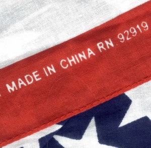 US flag Made in China