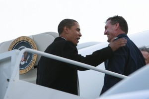 Colonel Scott Turner with President Obama