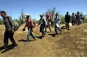 Swamming the borders like an invading army